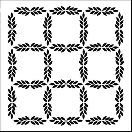 The Crafter's Workshop - 12 x 12 Doodling Templates - Leaf Grid