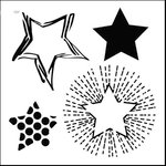 The Crafter's Workshop - 6 x 6 Doodling Templates - Mini Layered Stars