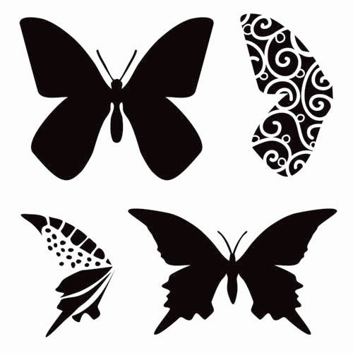 The Crafter's Workshop - 12 x 12 Doodling Templates - Layered Butterflies