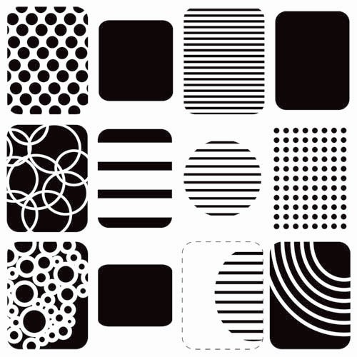 The Crafter's Workshop - 12 x 12 Doodling Templates - Life Shapes Small