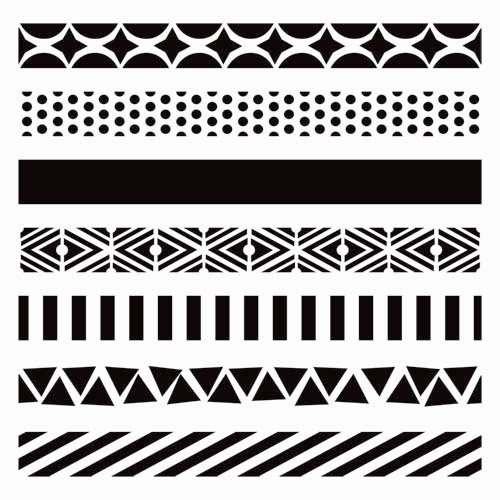 The Crafter's Workshop - 6 x 6 Doodling Templates - Mini Pattern Strips