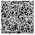 The Crafter's Workshop - 12 x 12 Doodling Templates - Swirly Garden