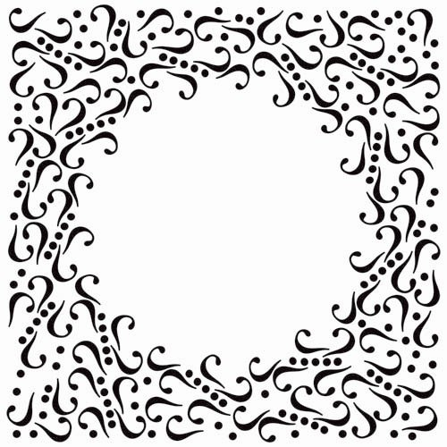 The Crafter's Workshop - 6 x 6 Doodling Templates - Mini Curl Frame