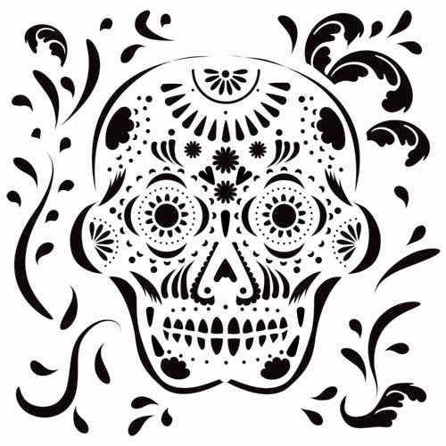 The Crafter's Workshop - 12 x 12 Doodling Templates - Mexican Skull