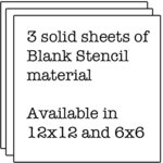 The Crafter's Workshop - 12 x 12 Doodling Templates - 3 Solid Stencil Sheets