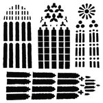 The Crafter's Workshop - 12 x 12 Doodling Template - Church Windows