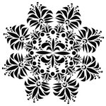 The Crafter's Workshop - 12 x 12 Doodling Template - Fleur de Lis Doily