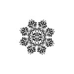 The Crafter's Workshop - 6 x 6 Doodling Template - Mini Fleur de Lis Doily