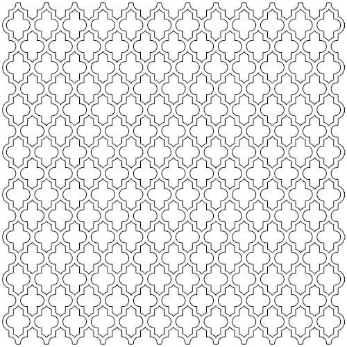 The Crafter's Workshop - 12 x 12 Doodling Template - Quatrefoil