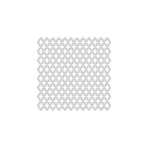 The Crafter's Workshop - 6 x 6 Doodling Template - Mini Quatrefoil