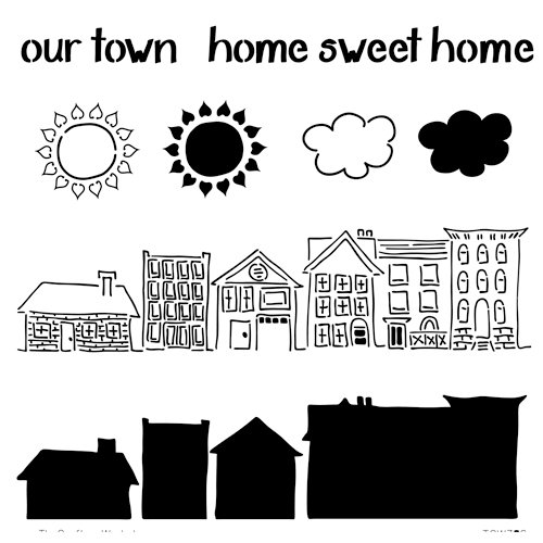 The Crafter's Workshop - 12 x 12 Doodling Template - Sweet Home