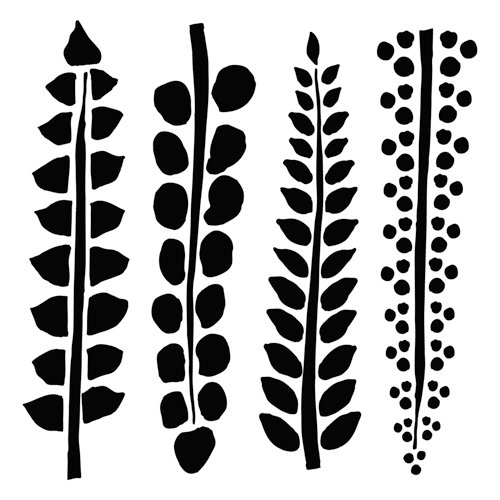 The Crafter's Workshop - 12 x 12 Doodling Template - Four Ferns