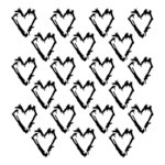 The Crafter's Workshop - 6 x 6 Doodling Template - Mini Grunge Hearts