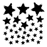 The Crafter's Workshop - 6 x 6 Doodling Template - Mini Star Fall