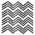The Crafter's Workshop - 6 x 6 Doodling Template - Mini Chevron Tiles