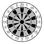 The Crafter's Workshop - 6 x 6 Doodling Template - Mini Dartboard
