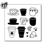 The Crafter's Workshop - 6 x 6 Doodling Template - Cafe Latte
