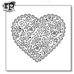 The Crafter's Workshop - 6 x 6 Doodling Template - Embroidered Heart