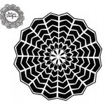 The Crafter's Workshop - 6 x 6 Doodling Template - Web Doily