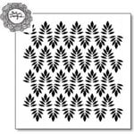 The Crafter's Workshop - 6 x 6 Doodling Template - Indian Leaves
