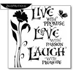 The Crafter's Workshop - 6 x 6 Doodling Template - Live Love Laugh