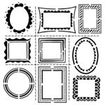 The Crafter's Workshop - 6 x 6 Doodling Template - Hand Drawn Frames