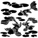 The Crafter's Workshop - 12 x 12 Doodling Template - Koi Pond