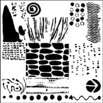 The Crafter's Workshop - 12 x 12 Doodling Templates - Pebble Art