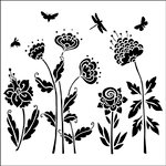 The Crafter's Workshop - 12 x 12 Doodling Templates - Flying Garden