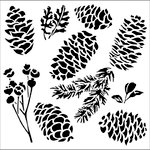 The Crafter's Workshop - 12 x 12 Doodling Templates - Pinecones