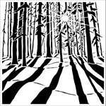 The Crafter's Workshop - 12 x 12 Doodling Templates - Sunlit Forest