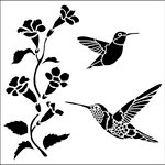 The Crafter's Workshop - 6 x 6 Doodling Templates - Mini Hummingbirds