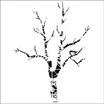 The Crafter's Workshop - 6 x 6 Doodling Templates - Mini Shadow Tree