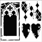 The Crafter's Workshop - 6 x 6 Doodling Templates - Mini Cathedral of Love