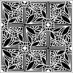 The Crafter's Workshop - 12 x 12 Doodling Templates - Tiled Flower