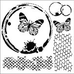 The Crafter's Workshop - 12 x 12 Doodling Templates - Butterfly Collage