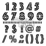 The Crafters Workshop - 12 x 12 Doodling Templates - Art Deco Numbers and More