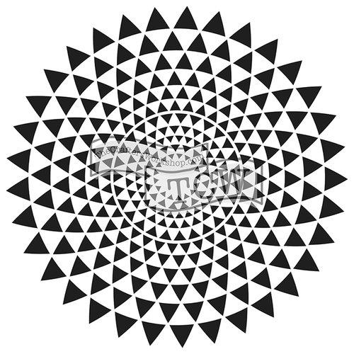 The Crafters Workshop - 6 x 6 Doodling Templates - Mini Triangle Sunburst
