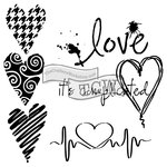 The Crafters Workshop - 12 x 12 Doodling Templates - Complicated Hearts
