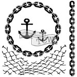 The Crafters Workshop - 12 x 12 Doodling Templates - Nautical Chains