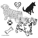 The Crafters Workshop - 12 x 12 Doodling Templates - Doggies