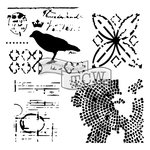 The Crafters Workshop - 6 x 6 Doodling Templates - Mini Raven Mosaic