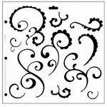 The Crafter's Workshop - 12x12 Doodling Templates - Funky Swirl