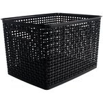 Storage Studios - Bin - Weave - Large - Black