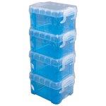 Storage Studios - Super Stacker Pixie Box - Blue - 4 Pack