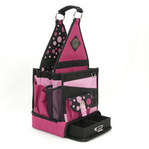 Advantus - Cropper Hopper - All My Memories - Tote-Ally Cool Tote 2 - Raspberry Polka Dot
