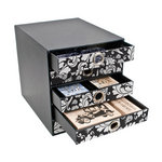 Advantus - Cropper Hopper - 5 Drawer Organizer - Black and White