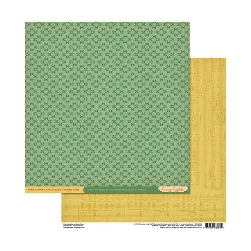 Cosmo Cricket - Honky Tonk Collection - 12 x 12 Double Sided Paper - Country Sunshine