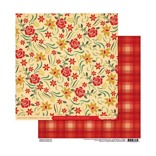 Cosmo Cricket - Honky Tonk Collection - 12 x 12 Double Sided Paper - Rose Garden