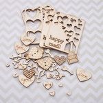 Cosmo Cricket - Wood Charms - Happy Mail